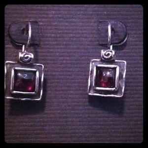 Silpada garnet earrings